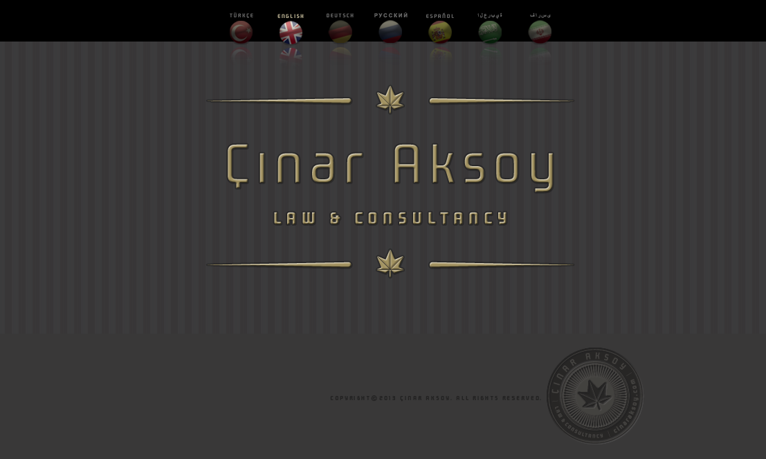 Çınar Aksoy Law & Consultancy web site