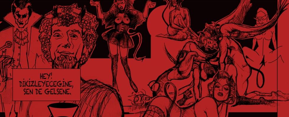 devil tarot illustration