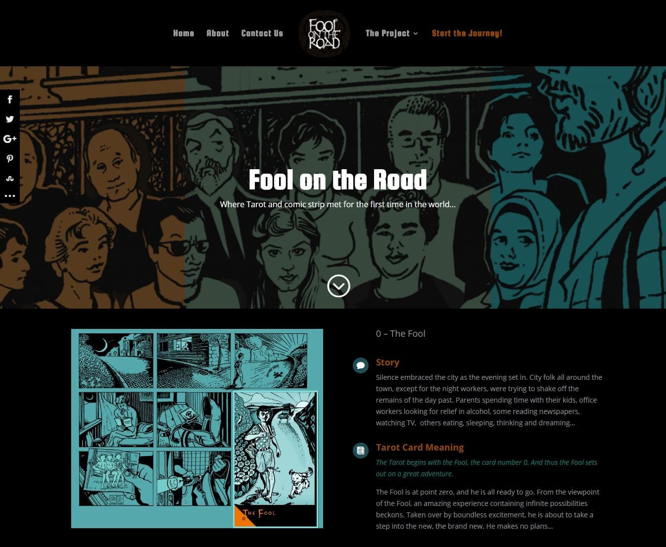 fool on the road web site design