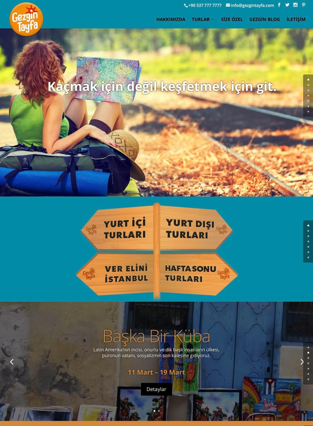 gezgintayfa site tasarım