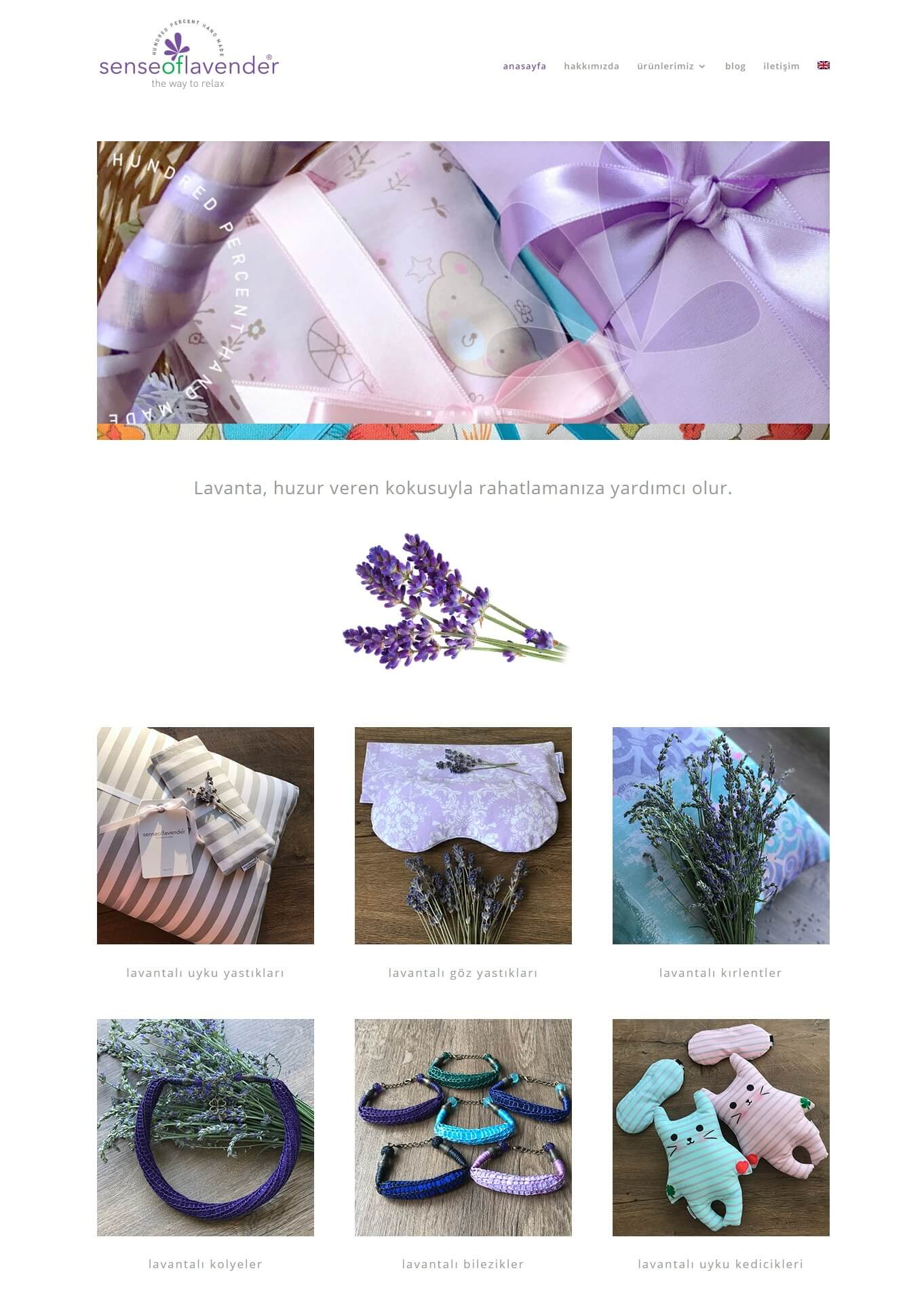 sense of lavender web site design
